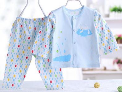 Model lovely raindrop design Air conditioning baby clothing with long sleeves