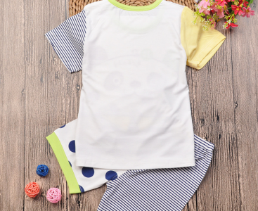 Baby summer carton two-pieces clothing with short sleeves