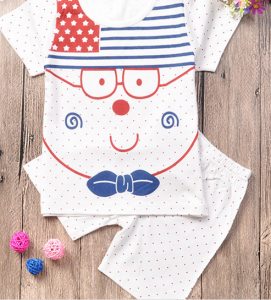 Baby summer clothing, two pieces suit with short sleeve