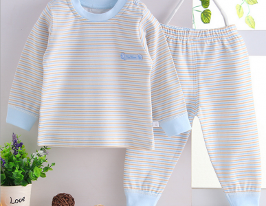 Striped infant baby underwear suit, spring & autumn 0 - 2 years old